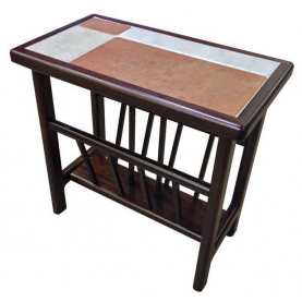 Shown with a Brick/White Tile Top in Mahogany Finish